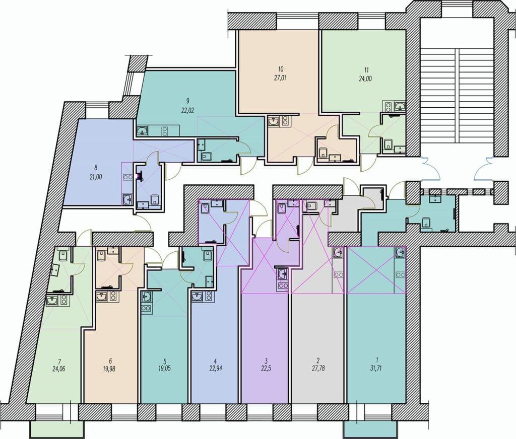 квартиры студии на Литейном проспекте д. 61